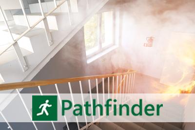 Pathfinder - zaawansowany symulator ewakuacji ludzi z płonącego budynku.
